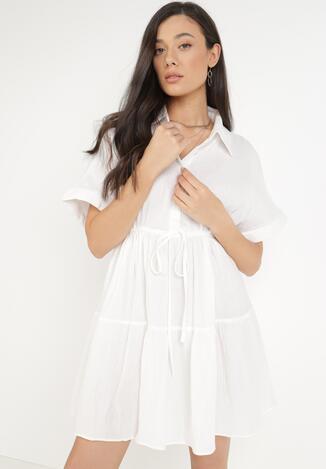 Biała Sukienka Paphethe