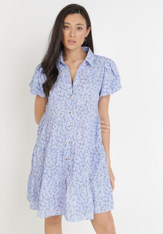 Niebieska Sukienka Myrithiche
