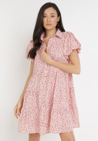 Różowa Sukienka Myrithiche