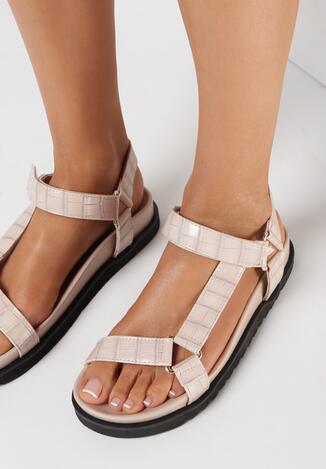 Beżowe Sandały Idaphiaphe