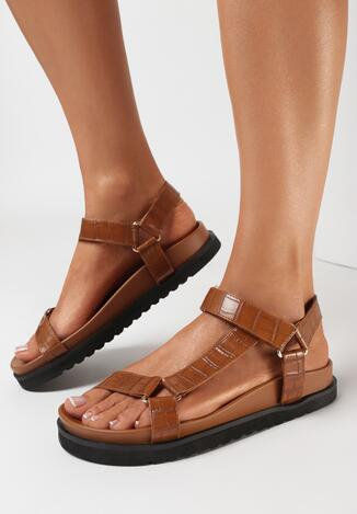 Brązowe Sandały Idaphiaphe