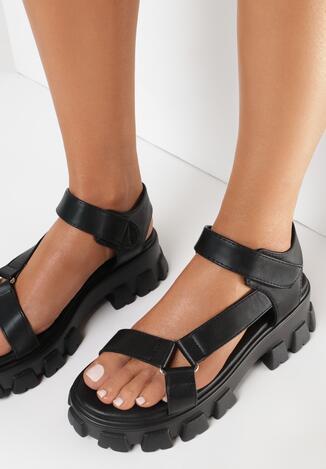 Czarne Sandały Pixiphei