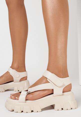 Beżowe Sandały Pixiphei