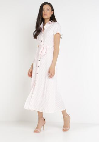 Jasnoróżowa Sukienka Alethanthei