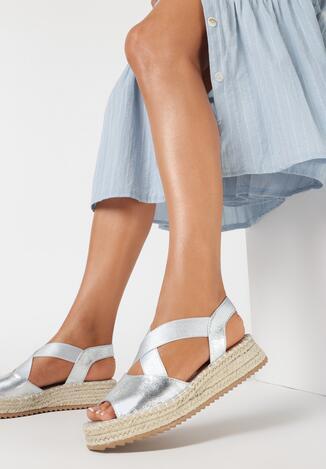 Srebrne Sandały Nixiphae