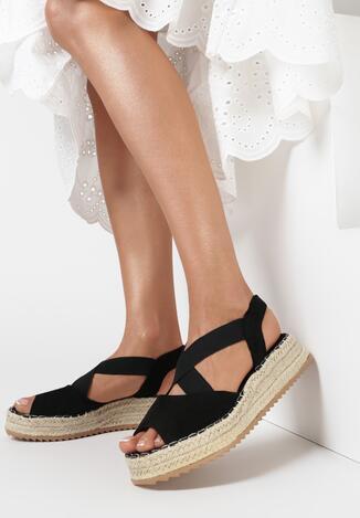 Czarne Sandały Nixiphae
