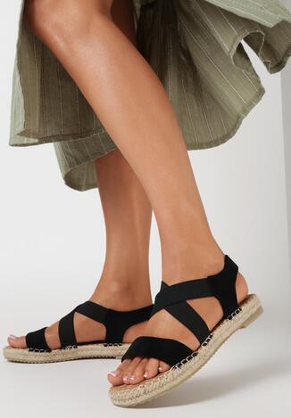 Czarne Sandały Kisymes