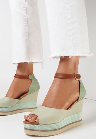 Miętowe Sandały Rhethixie