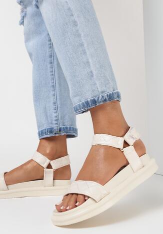 Beżowe Sandały Brethosi