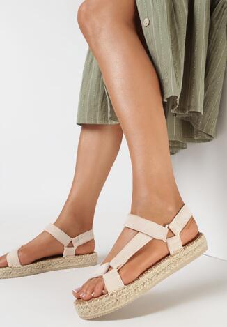 Beżowe Sandały Lephalphia
