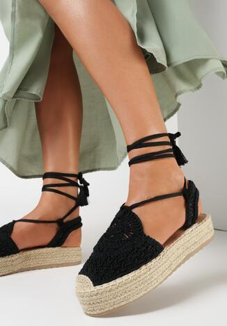 Czarne Sandały Silyxo