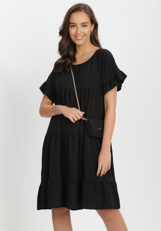 Czarna Sukienka Z Małą Torebką Athali