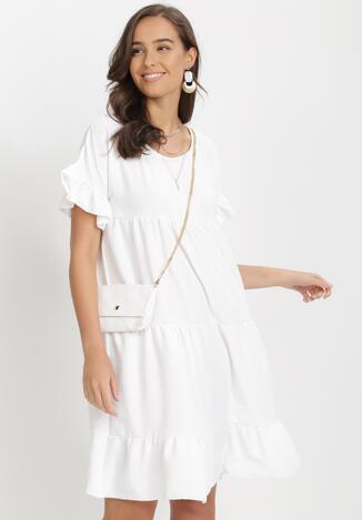 Biała Sukienka Z Małą Torebką Athali