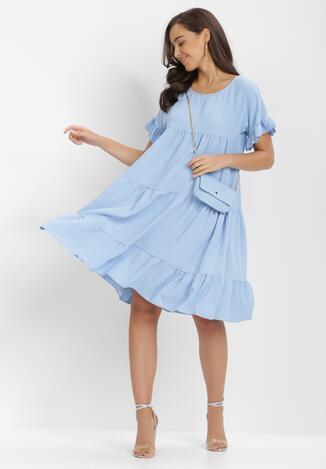 Jasnoniebieska Sukienka Z Małą Torebką Athali