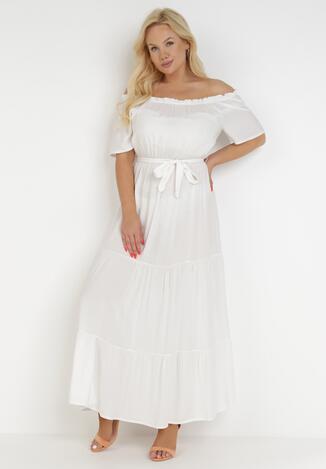 Biała Sukienka Theamethe