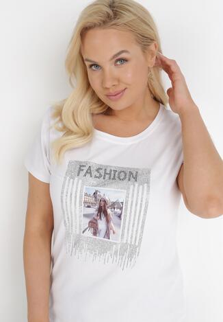 Biały T-shirt Paphiphae