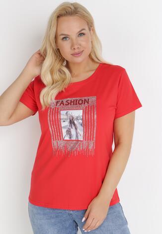Czerwony T-shirt Paphiphae