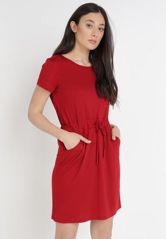 Bordowa Sukienka Orpheleia