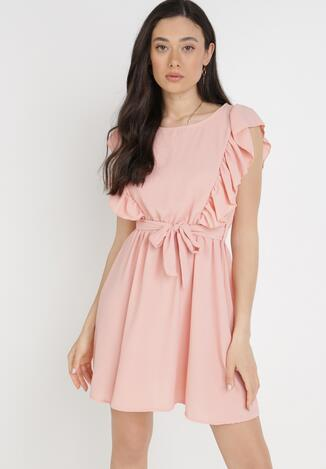 Różowa Sukienka Amatheithe