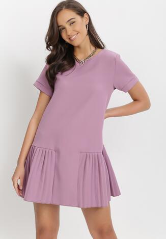 Fioletowa Sukienka Athizose