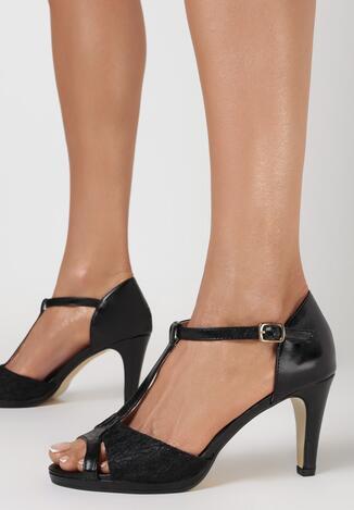 Czarne Sandały Sagiphise