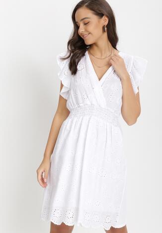 Biała Sukienka Athali