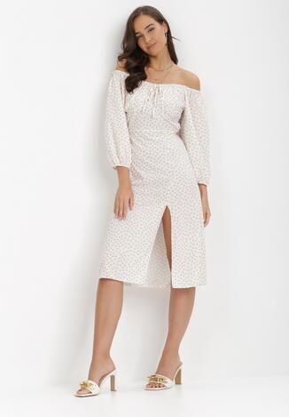 Jasnobeżowa Sukienka Ohmrel