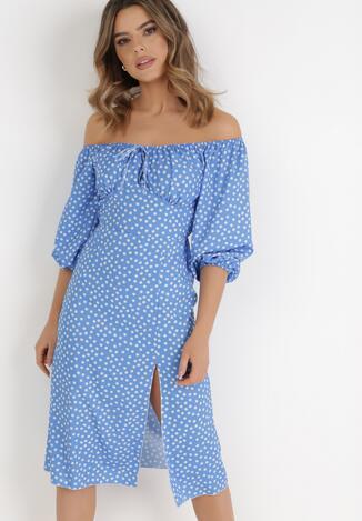 Niebieska Sukienka Ohmrel