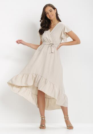 Jasnobeżowa Sukienka Jhorahr