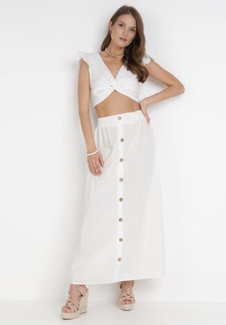Biała Spódnica Kisalise