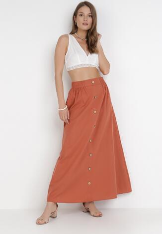 Pomarańczowa Spódnica Kisalise
