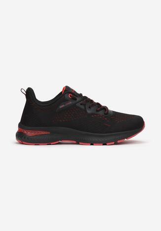 Czarno-Czerwone Buty Sportowe Usinanya