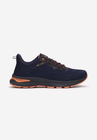 Granatowo-Pomarańczowe Buty Sportowe Usinanya