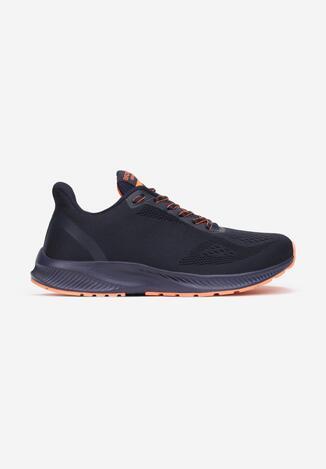 Granatowo-Pomarańczowe Buty Sportowe Abathe