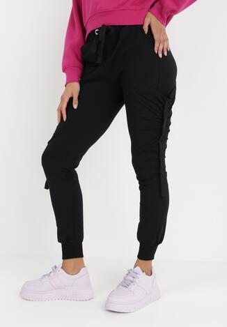 Czarne Spodnie Dresowe Orphixia