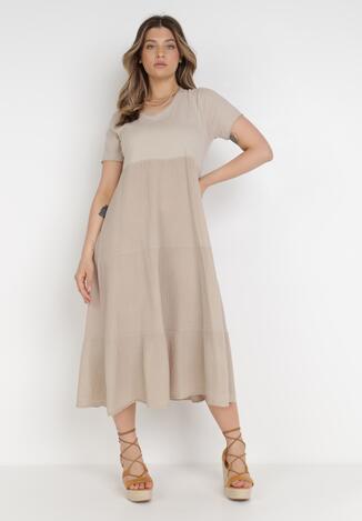 Beżowa Sukienka Ohirvile