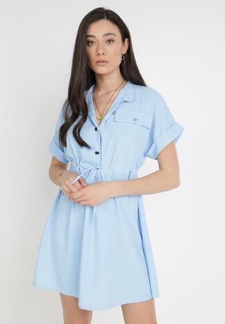Niebieska Sukienka Astrephine