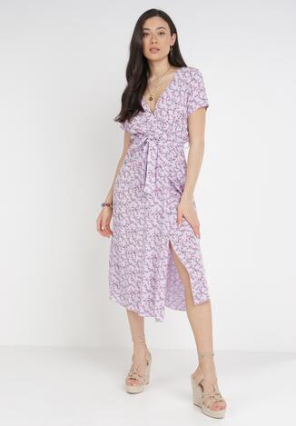 Liliowa Sukienka Helsea