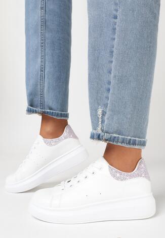Biało-Różowe Sneakersy Weseth