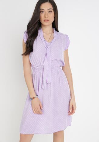 Liliowa Sukienka Orthrose