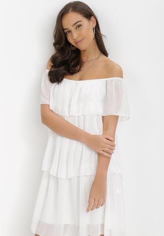 Biała Sukienka Najath