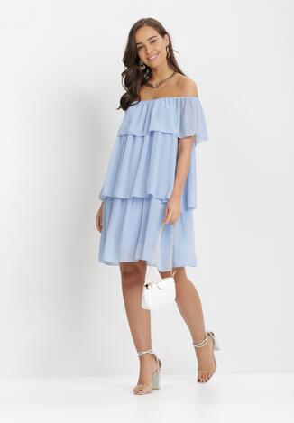 Niebieska Sukienka Najath