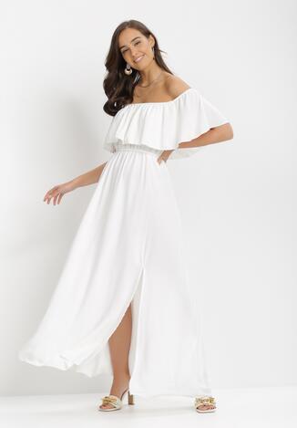 Biała Sukienka Iarlax