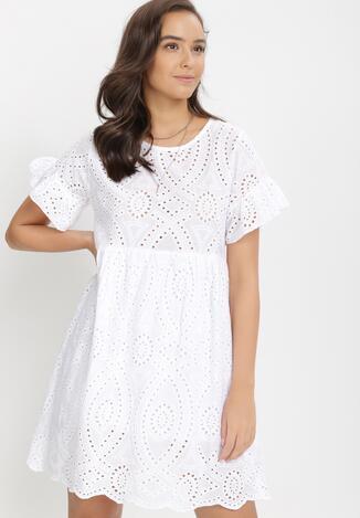 Biała Sukienka Rizarex