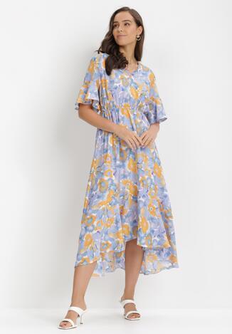 Liliowo-Niebieska Sukienka Ginoraris