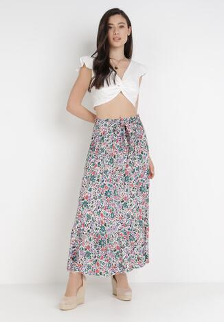 Biał-Liliowa Spódnica Isirynore