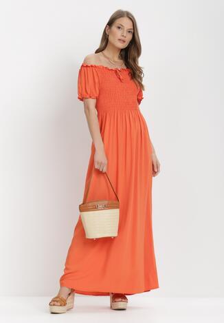 Pomarańczowa Sukienka Jilaith