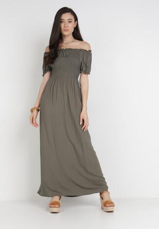 Ciemnozielona Sukienka Jilaith