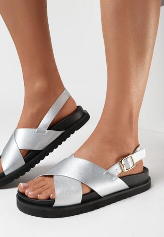 Srebrne Sandały Phisanya