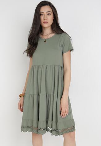 Zielona Sukienka Elrinney